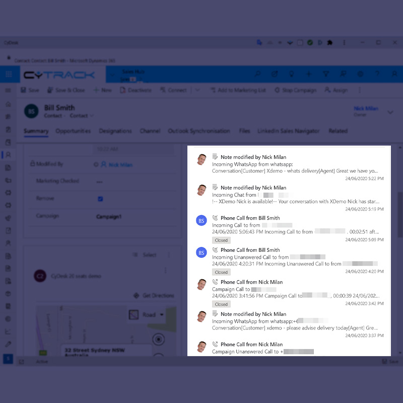 All conversations in one place in CRM
